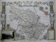 YORKSHIRE WEST RIDING by THOMAS MOULE c1842
