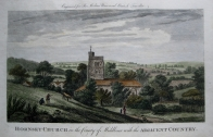 HORNSEY CHURCH  MIDDLESEX c1784