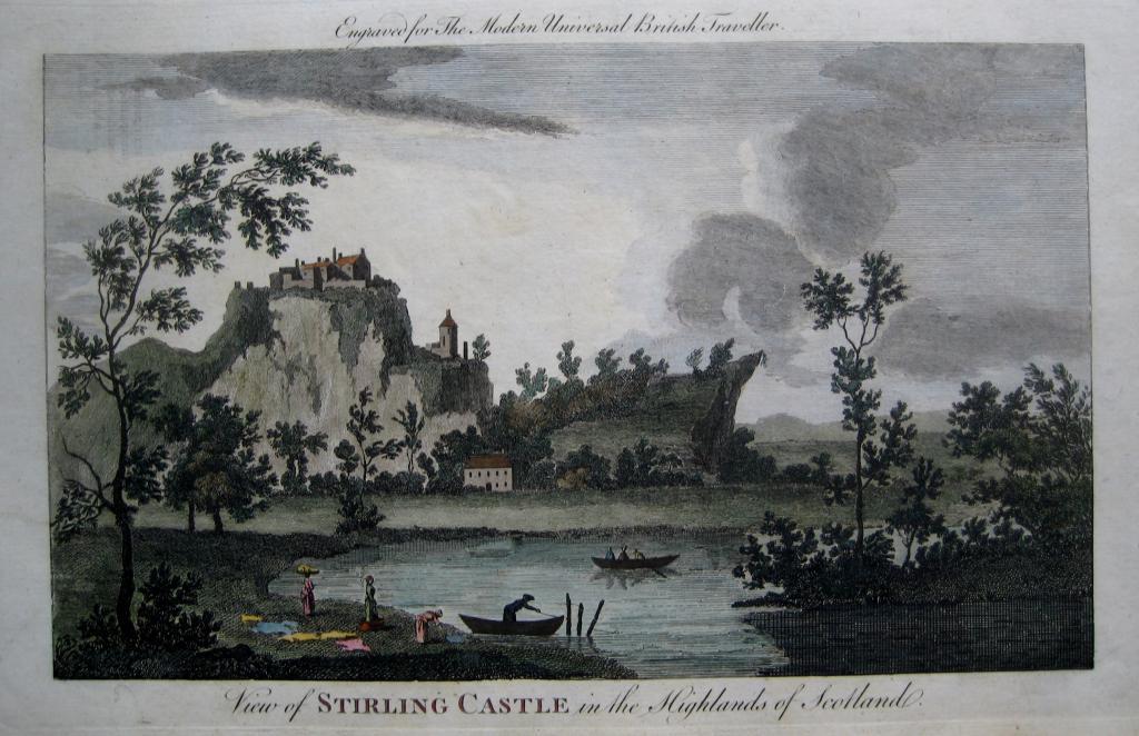 STIRLING CASTLE  SCOTLAND  c1784