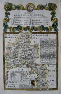 OXFORDSHIRE by EMANUEL BOWEN & JOHN OWEN c1720