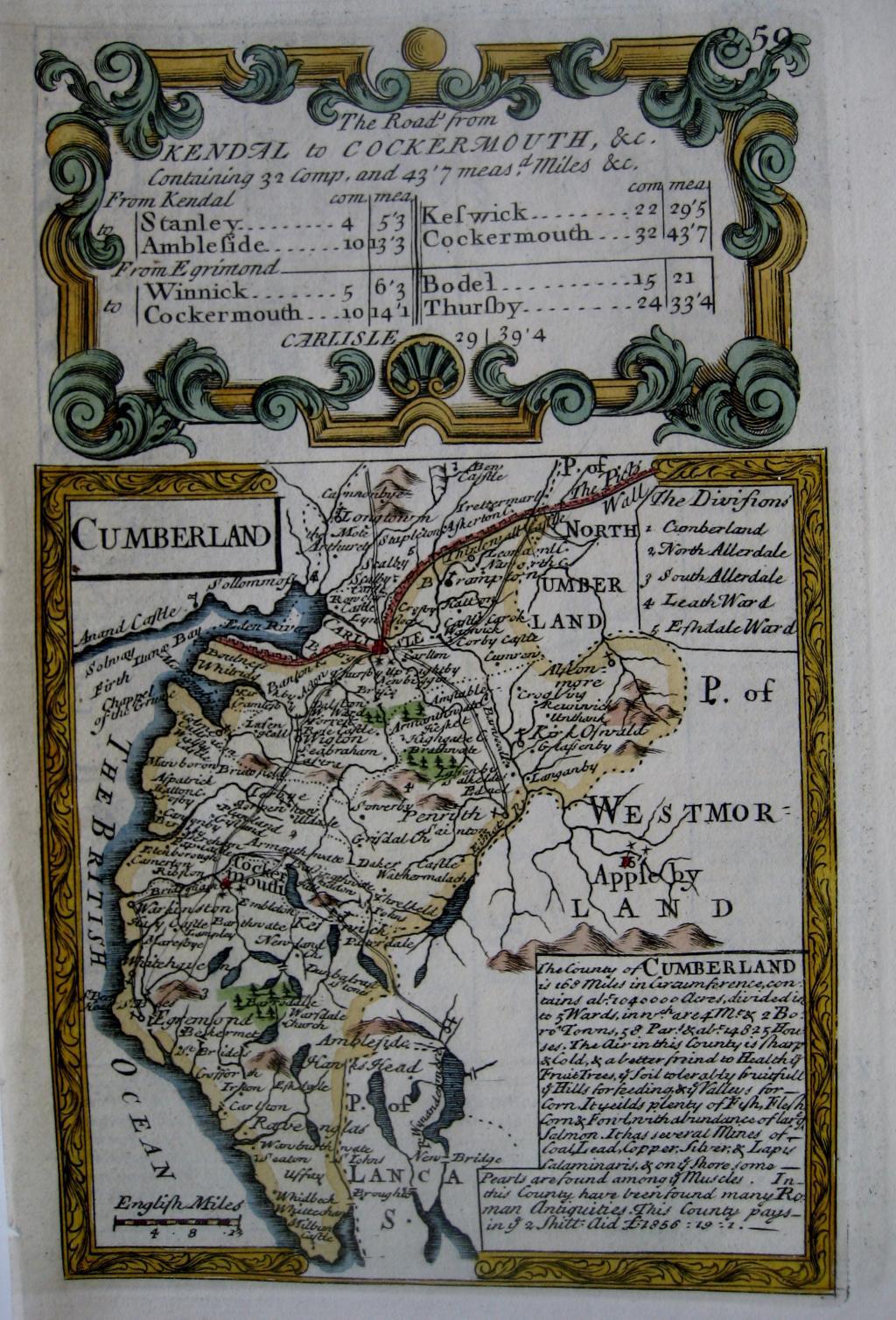 CUMBERLAND by EMANUEL BOWEN & JOHN OWEN c1720