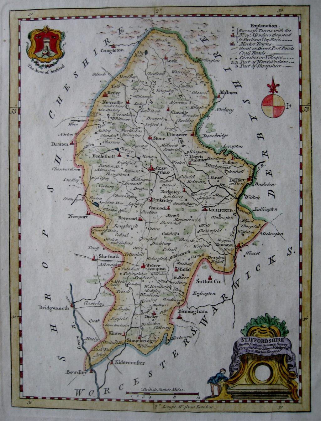 STAFFORDSHIRE by THOMAS KITCHIN c1780