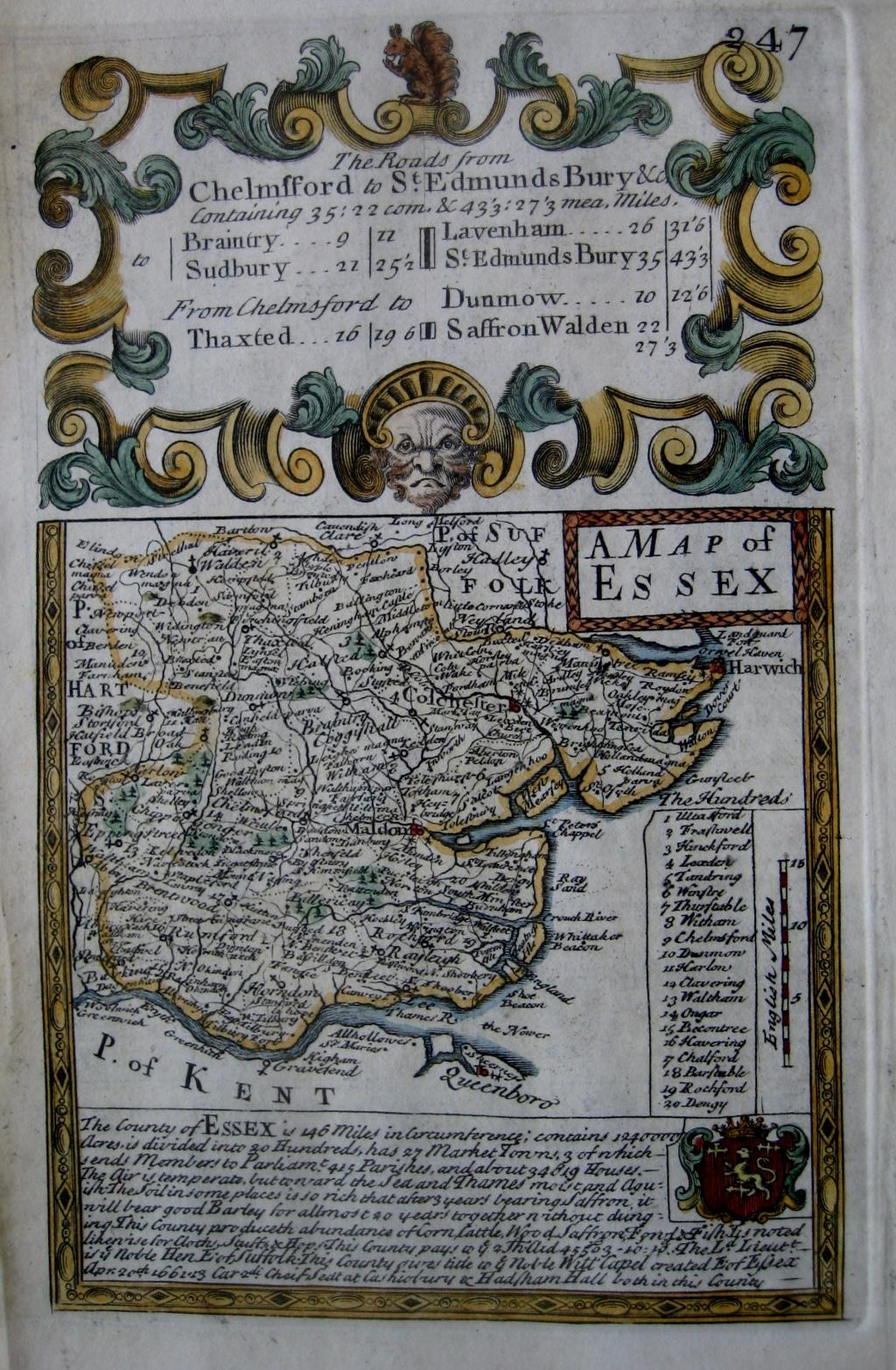 ESSEX by EMANUEL BOWEN & JOHN OWEN c1720