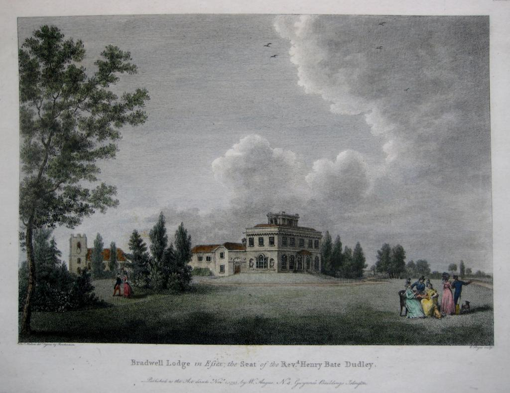 BRADWELL LODGE  ESSEX by W. ANGUS c.1793