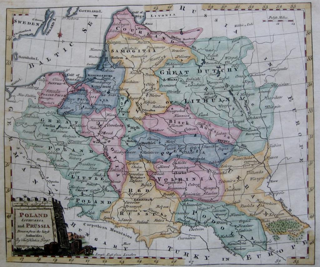 POLAND, LITHUANIA by THOMAS KITCHIN c.1780