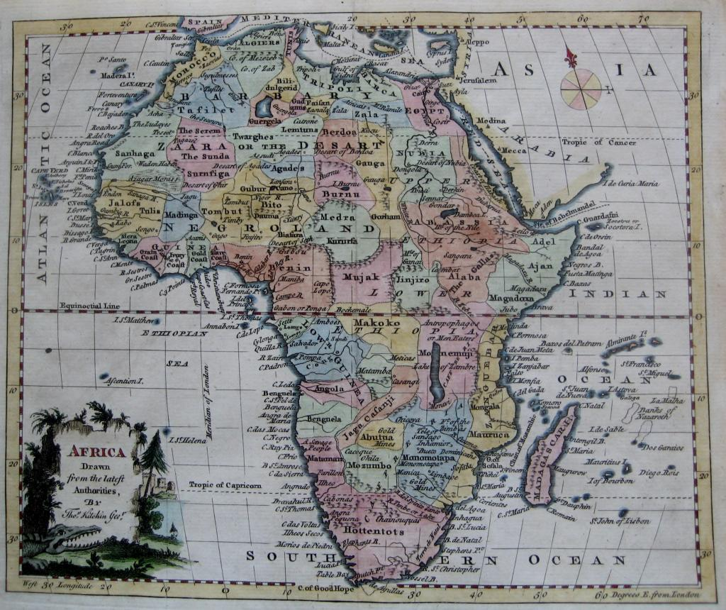 AFRICA by THOMAS KITCHIN c1780