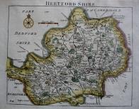 HERTFORDSHIRE by JOHN ROCQUE c1753