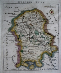 STAFFORDSHIRE by JOHN ROCQUE c1753