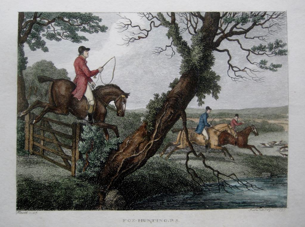 FOX HUNTING by SAMUEL HOWITT c1806