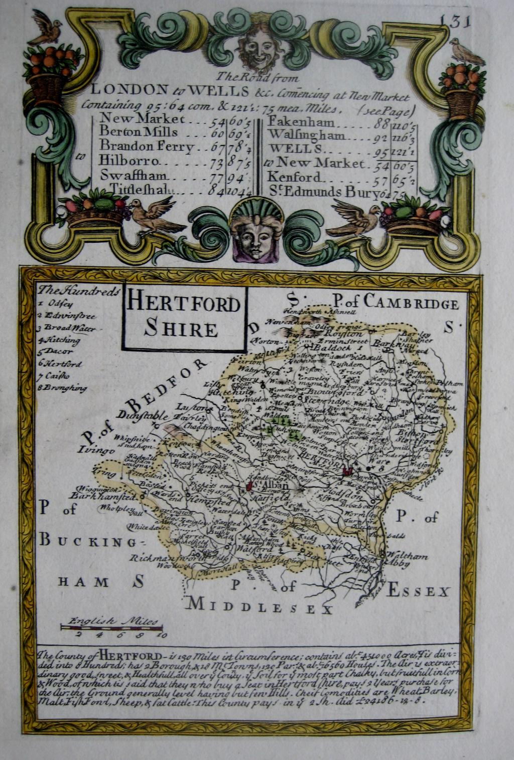 HEREFORD by EMANUEL BOWEN & JOHN OWEN C1720