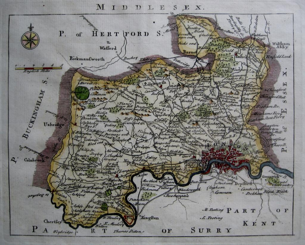 MIDDLESEX BY JOHN ROCQUE C1753