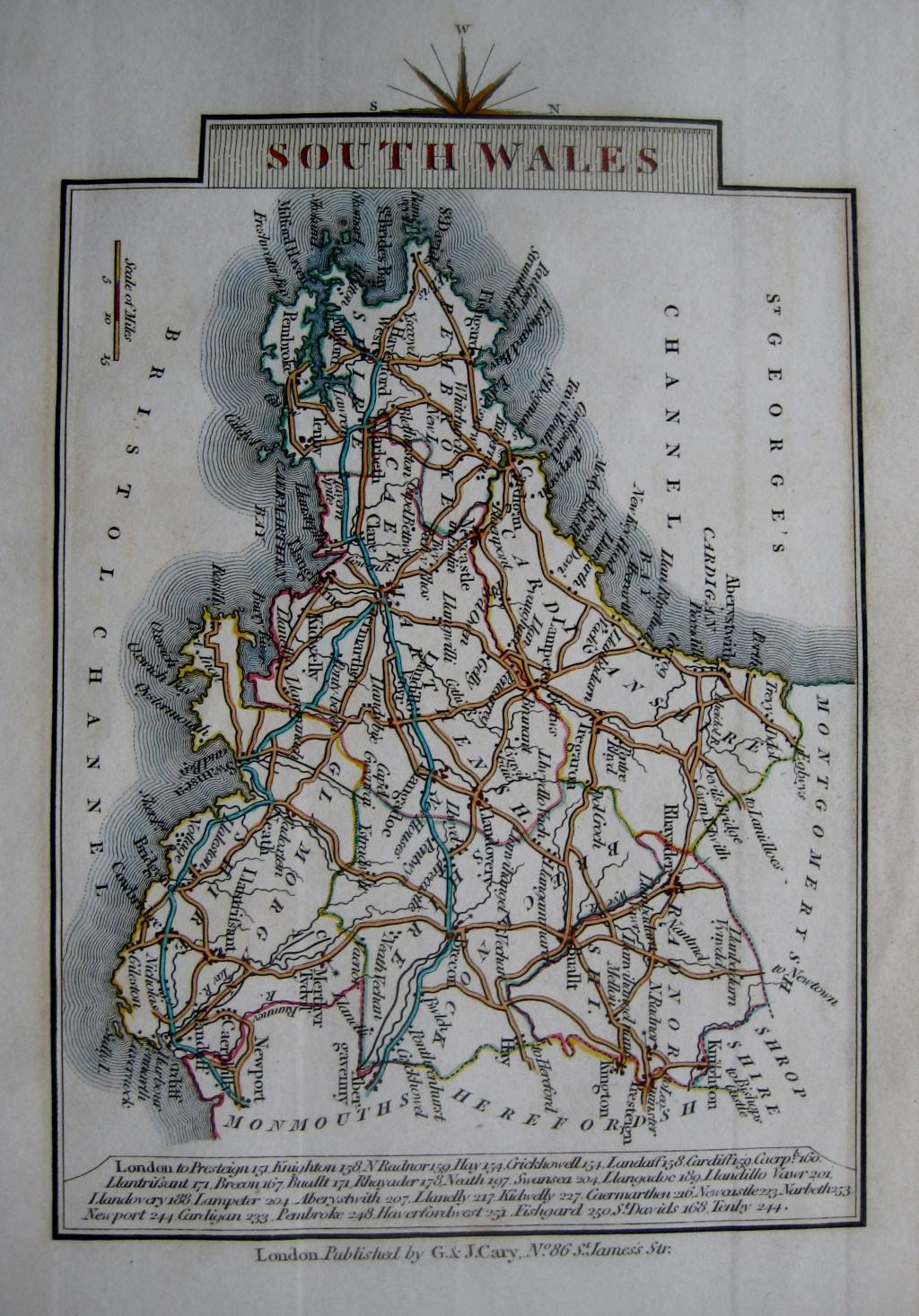 SOUTH WALES BY JOHN CARY C1828
