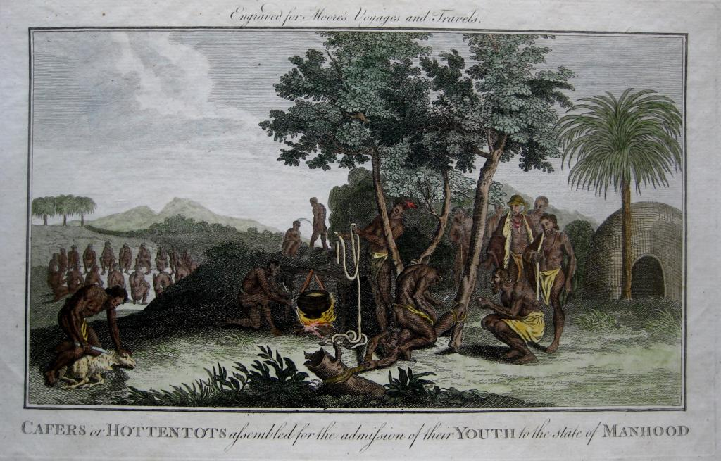 HOTTENTOTS   MOORES TRAVELS C1778
