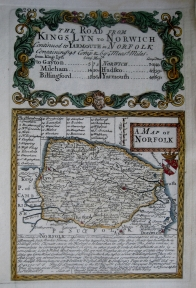 NORFOLK  BY EMANUEL BOWEN & JOHN OWEN C1720