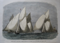 YACHT RACING  ROYAL THAMES YACHT CLUB C1867