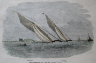 YACHT RACING  ROYAL THAMES YACHT CLUB C1854