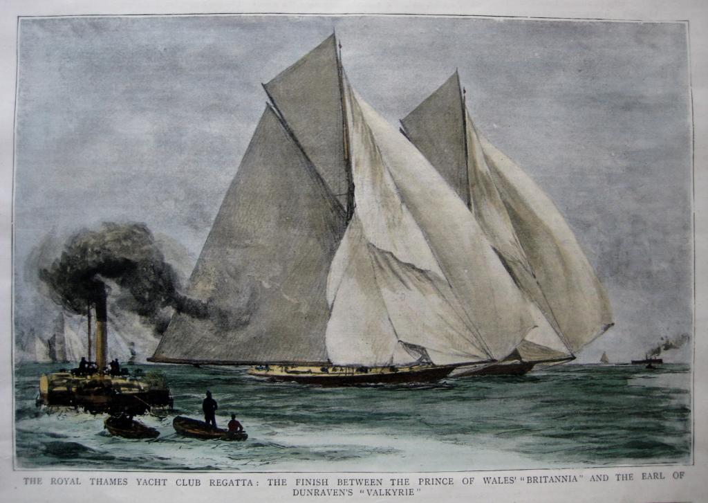 YACHT RACING  ROYAL THAMES YACHT CLUB C1893
