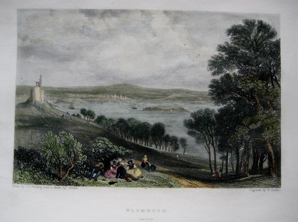 PLYMOUTH DEVON BY FINDEN C1840