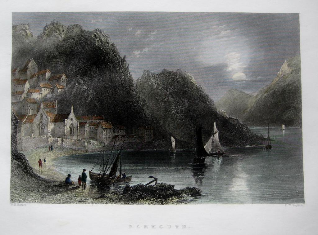 BARMOUTH  WALES  BY BARTLETT C1842