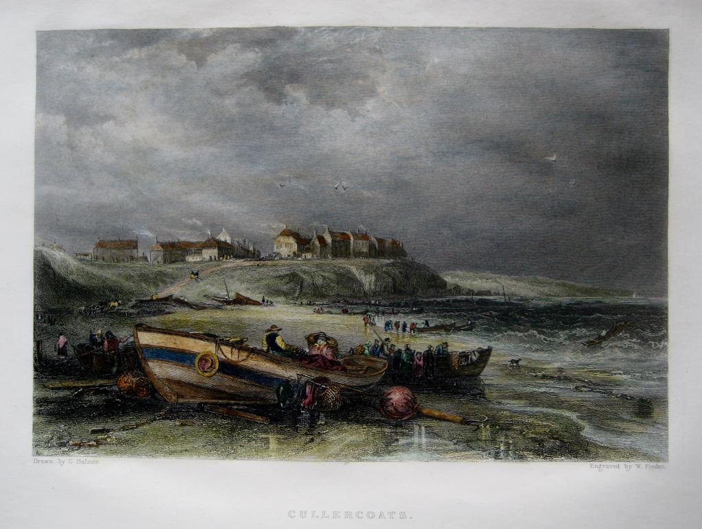 CULLERCOATS  NORTHUMBERLAND BY FINDEN C1842