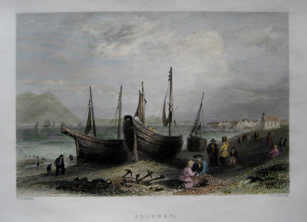 ALLONBY  CUMBRIA BY BARTLETT C1842