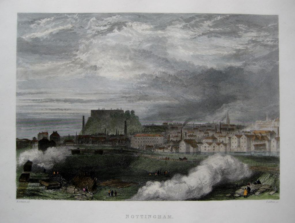NOTTINGHAM BY THOMAS PRIOR C1850