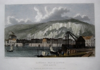 DOVER HARBOUR KENT BY WESTALL C1830