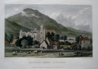 MELROSE ABBEY, SCOTLAND BY WESTALL C1830