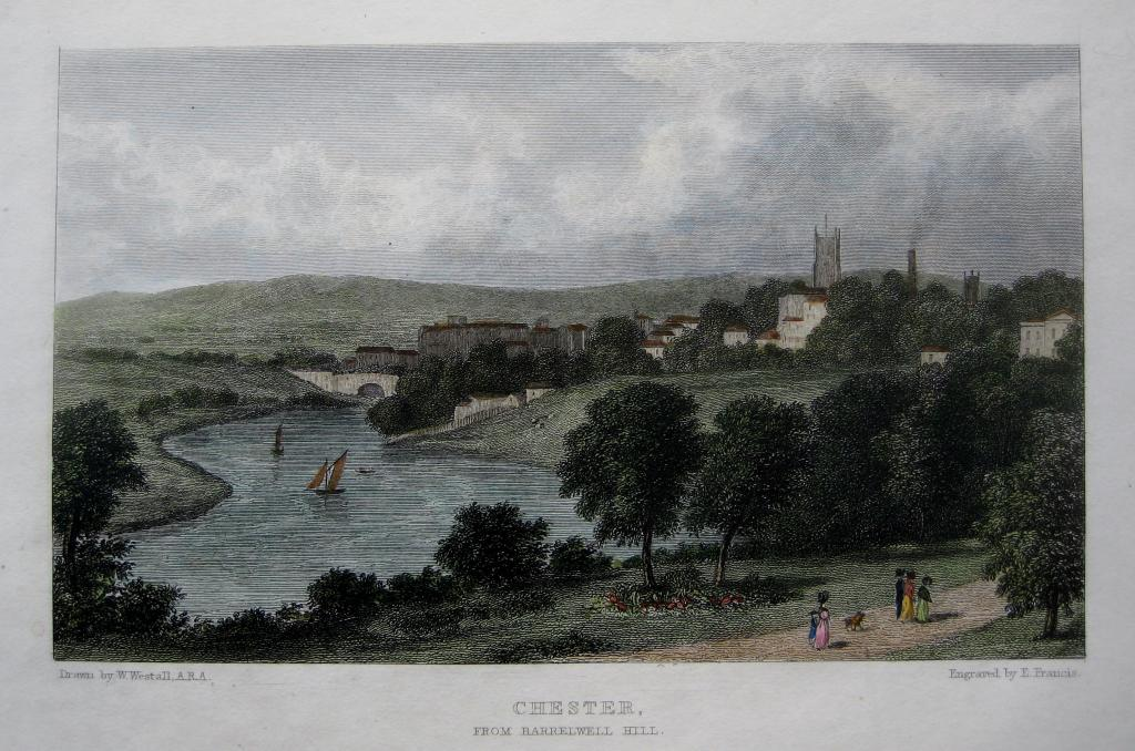 CHESTER  CHESHIRE BY WESTALL C1830