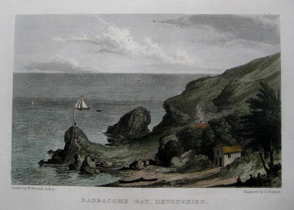 BABBACOMBE BAY  DEVON BY WESTALL C1830