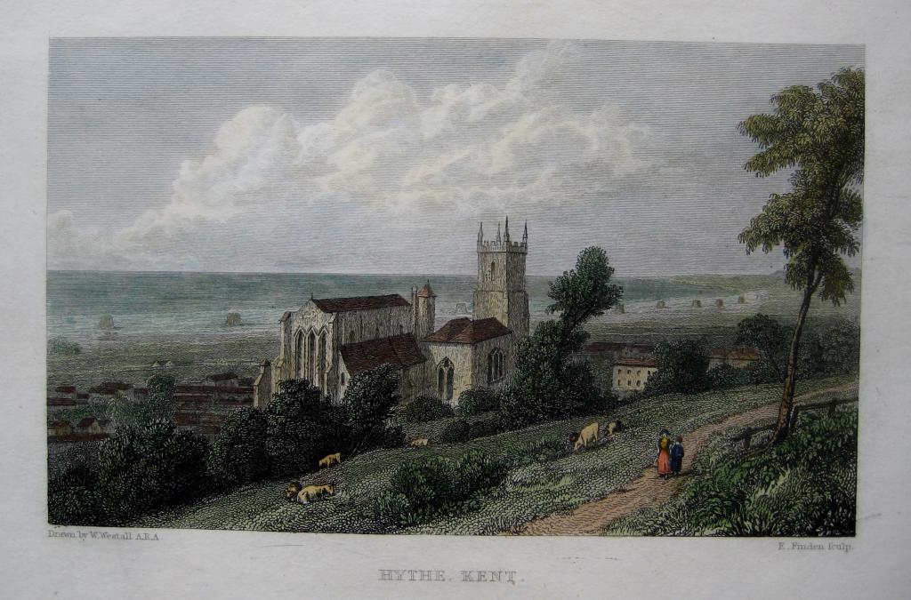 HYTHE  KENT BY WESTALL C1830