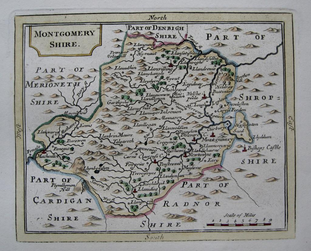 MONTGOMERYSHIRE  WALES BY JOHN SELLER C1787