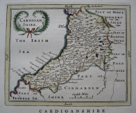 CARDIGANSHIRE  WALES BY JOHN SELLER C1787