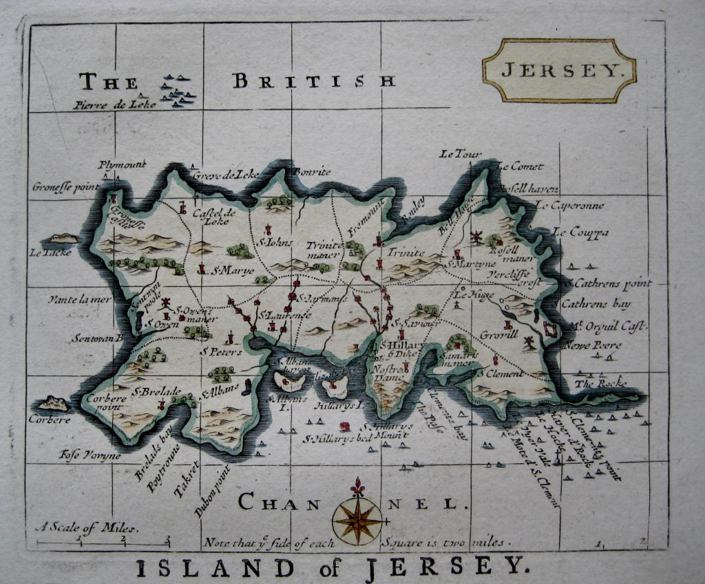 JERSEY CHANNEL ISLES BY JOHN SELLER C1787